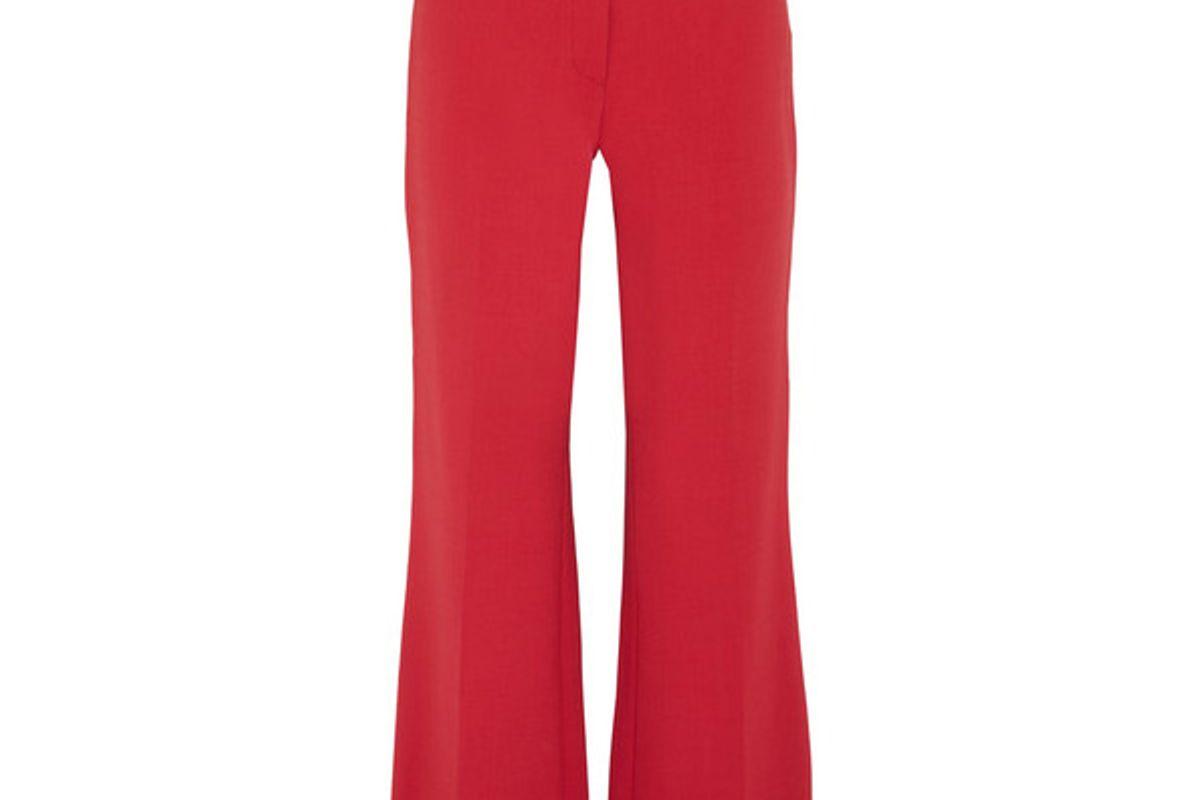 Vesta wool-blend flared pants