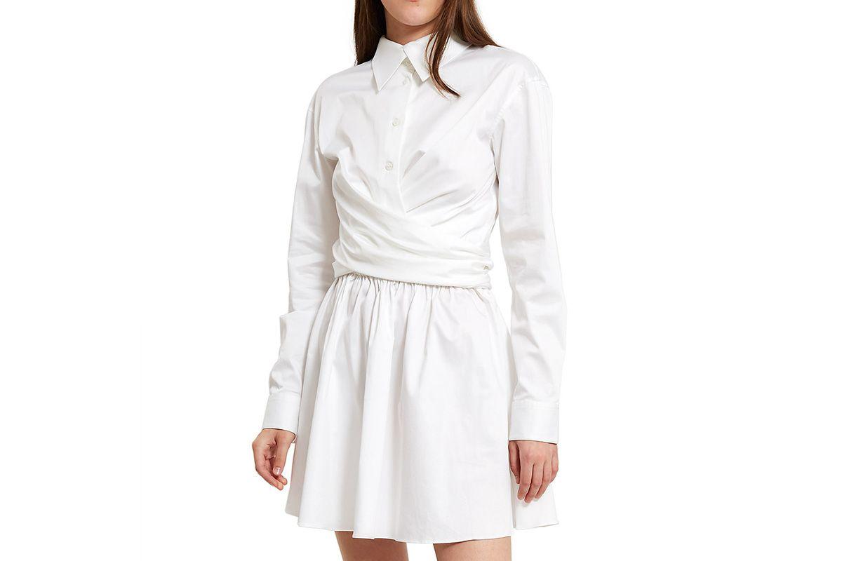Sateen Wrap Front Dress