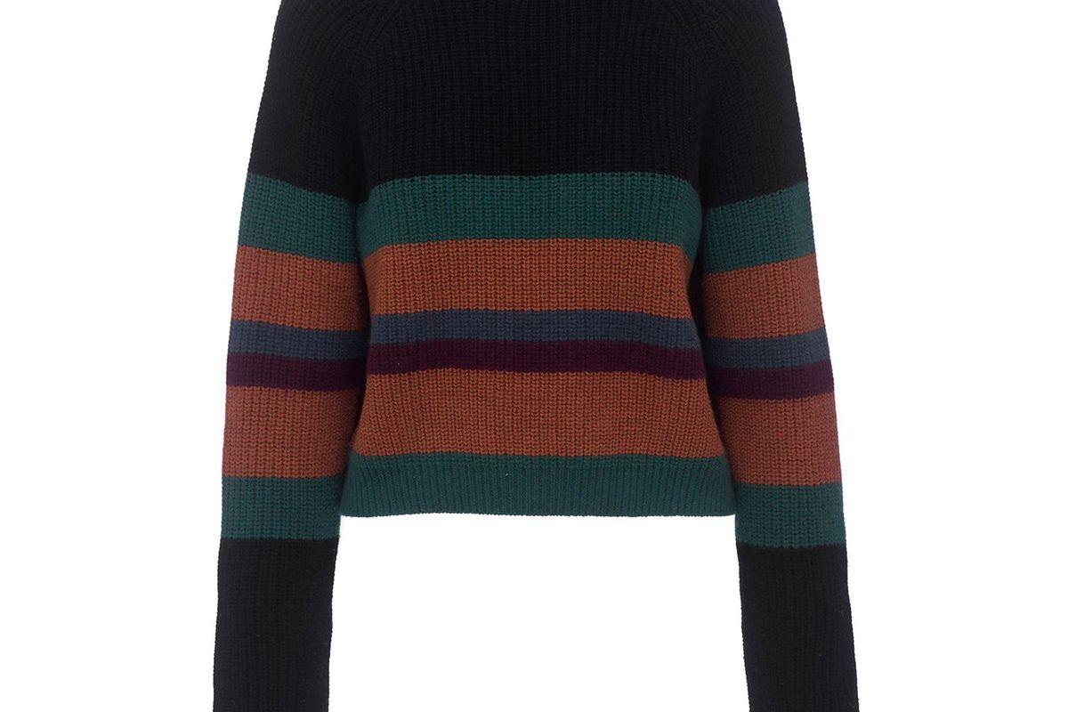 The Adam Sweater in Multi Stripe