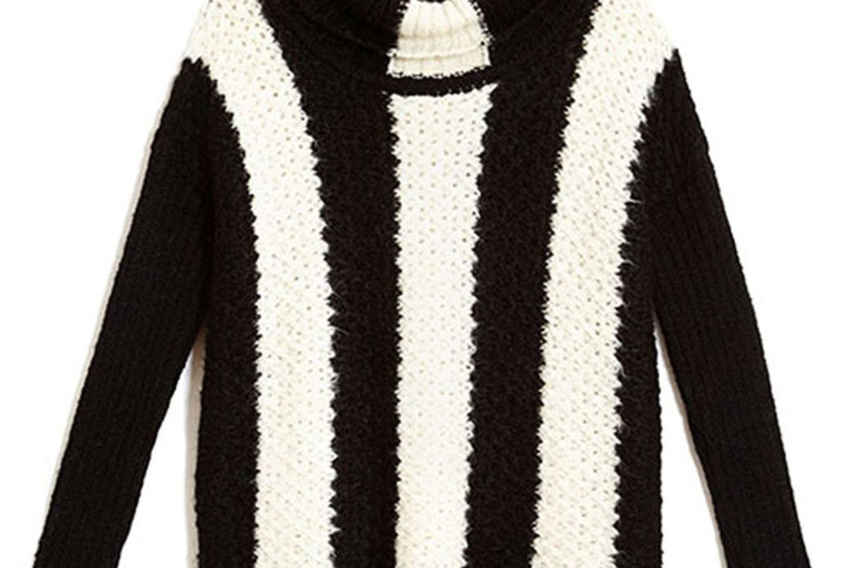 Jerry Sweater in Black and Ivory