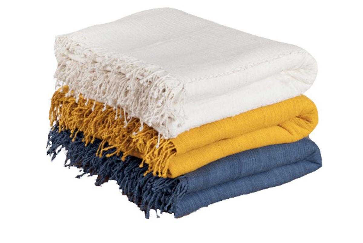 3 Panel Solid Queen Cotton Blanket