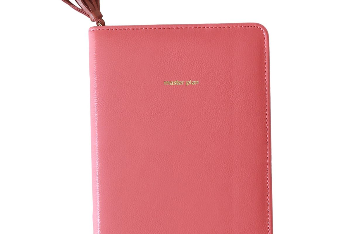 anthropologie anglophile zip around leather journal
