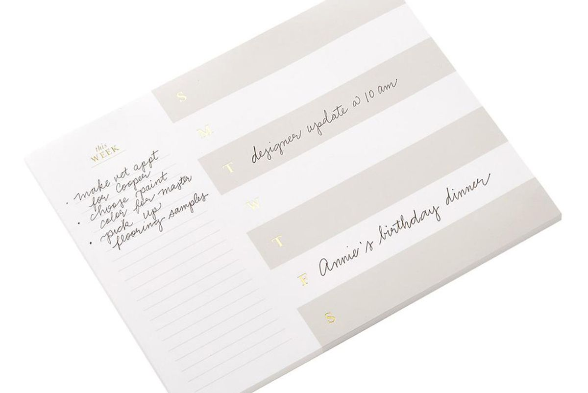 sugar paper this week notepad