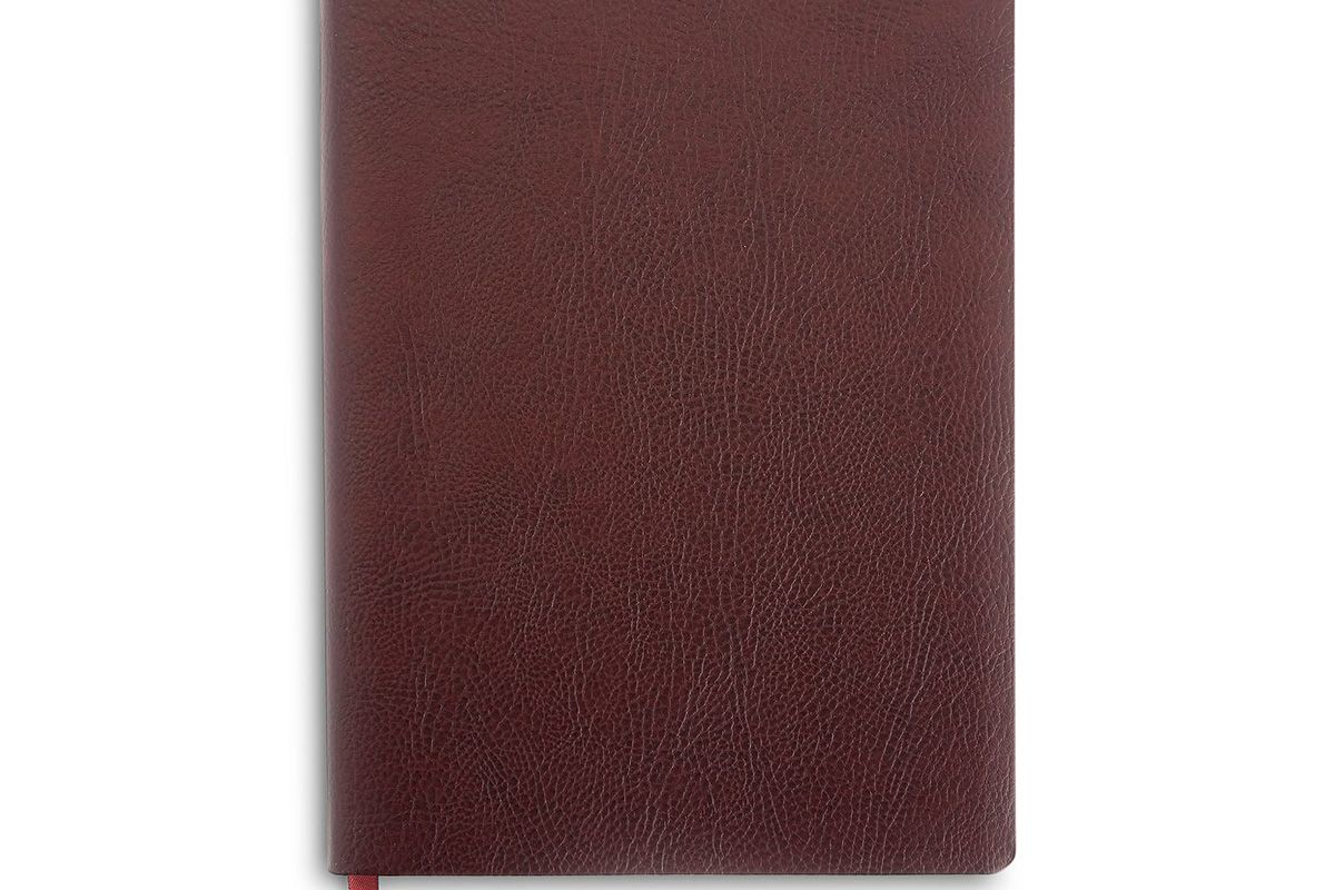 royce new york pebbled leather lined journal