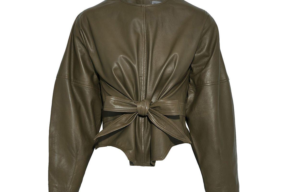 muuba harriet tie front leather top