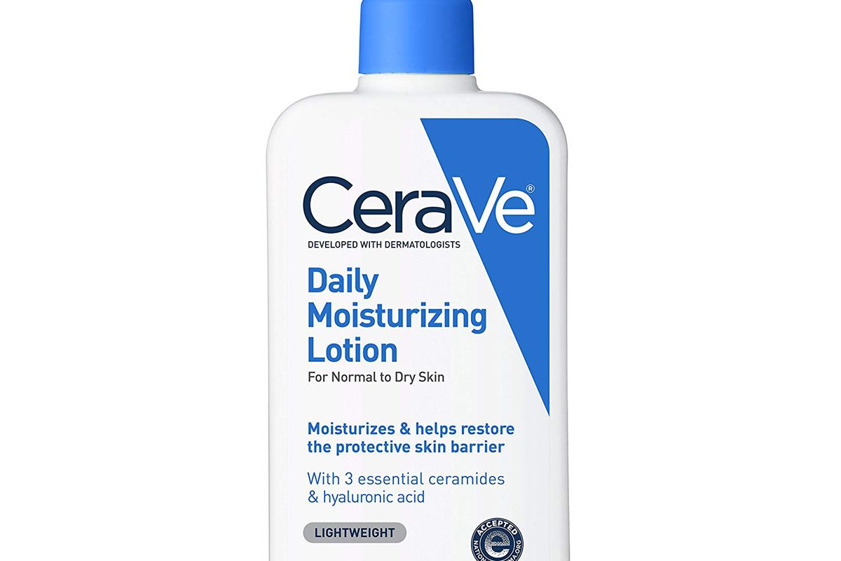 cerave daily moisturizing lotion 12 ounce face and body lotion for dry skin with hyaluronic acid fragrance free