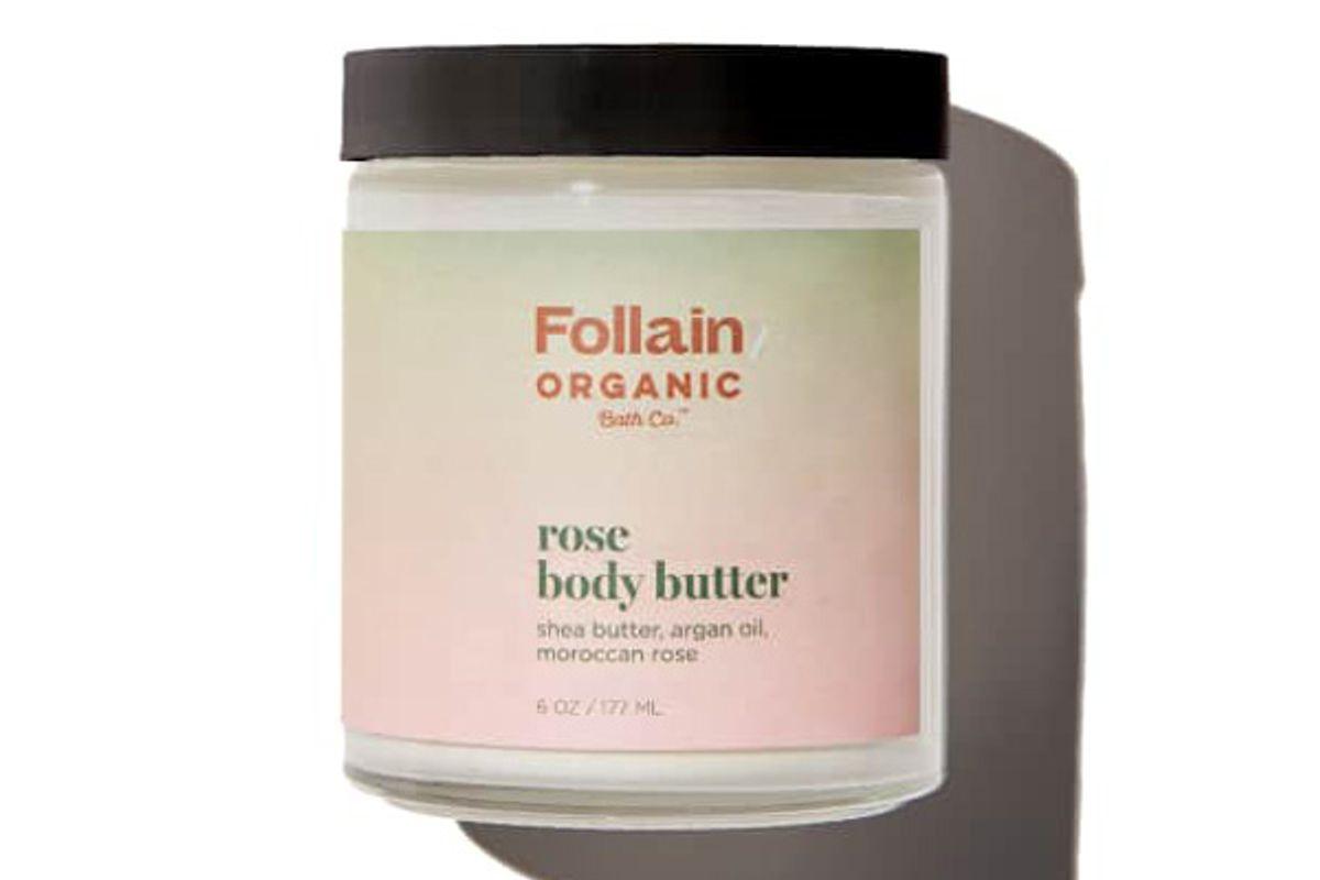 follain organic bath co rose body butter