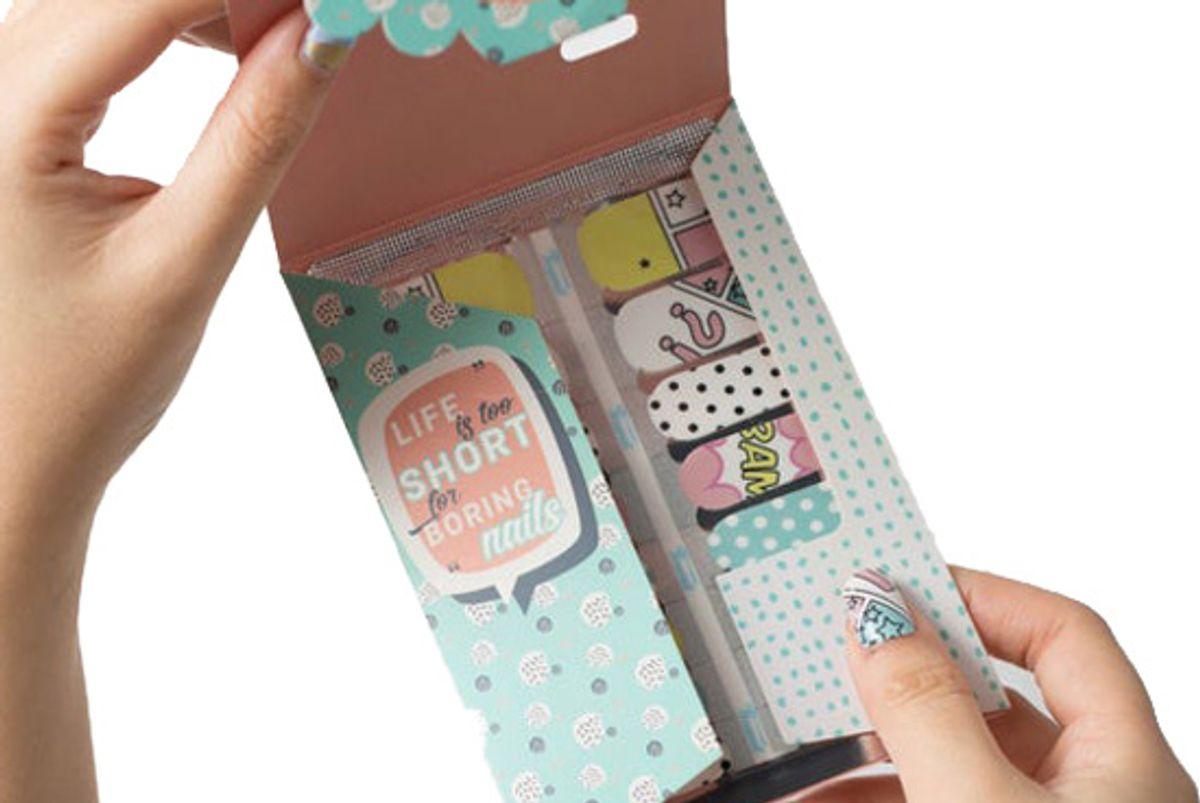 itspersonail classic french tips nail polish wraps
