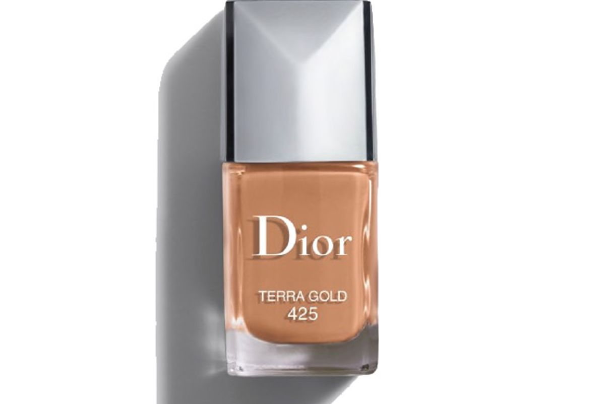 dior vernis limited edition couture colour gel shine and long wear nail lacquer 425 terra gold