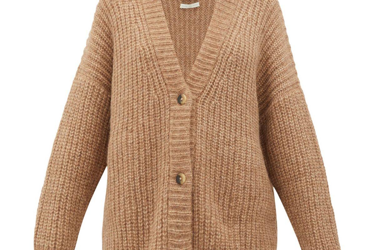 lauren manoogian fisherman chunky knit alpaca blend cardigan
