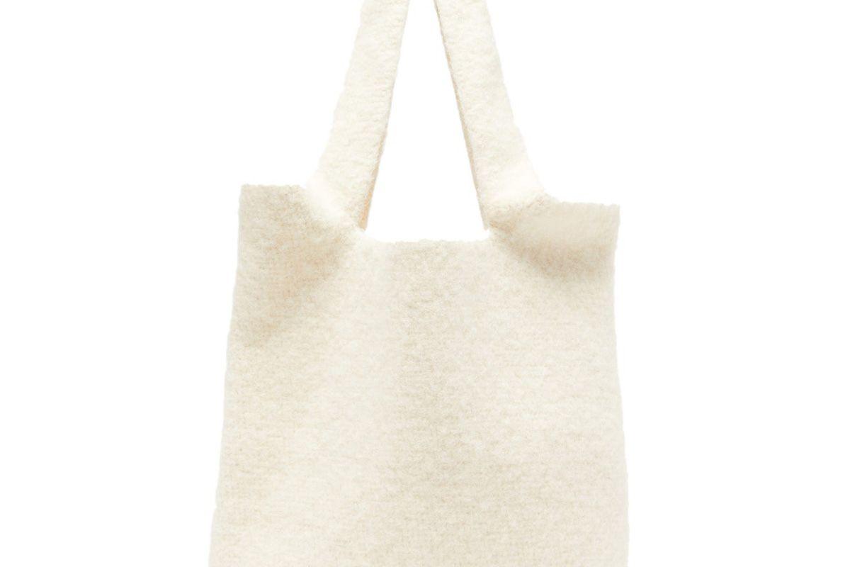 lauren manoogian oval cotton blend tote bag
