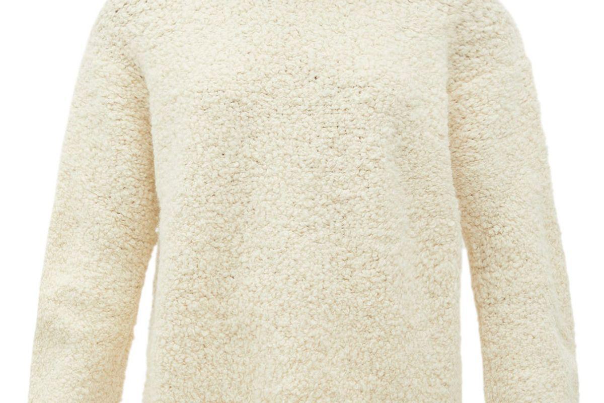 lauren manoogian alpaca blend boucle sweater