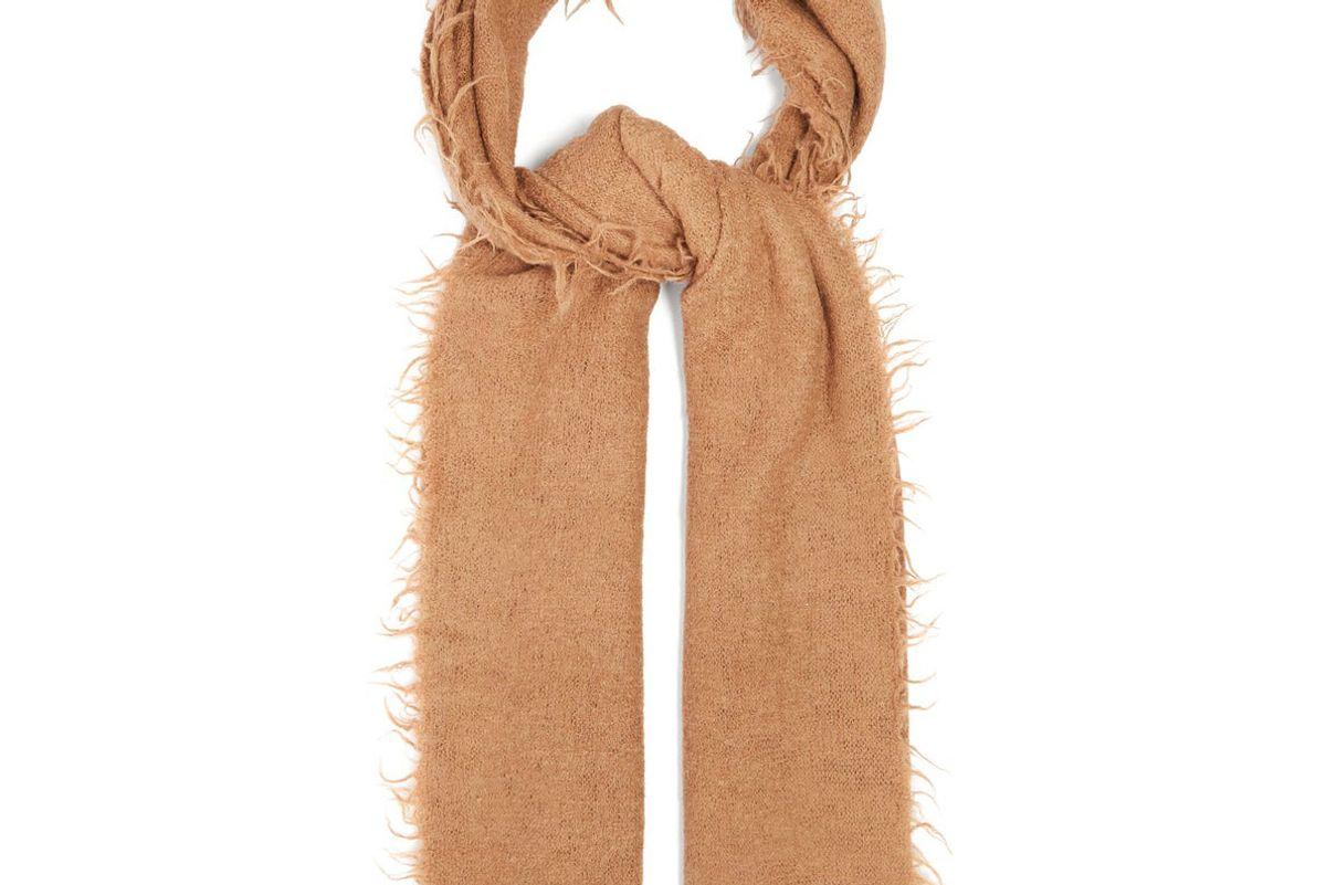 lauren manoogian fringed baby alpaca wool scarf