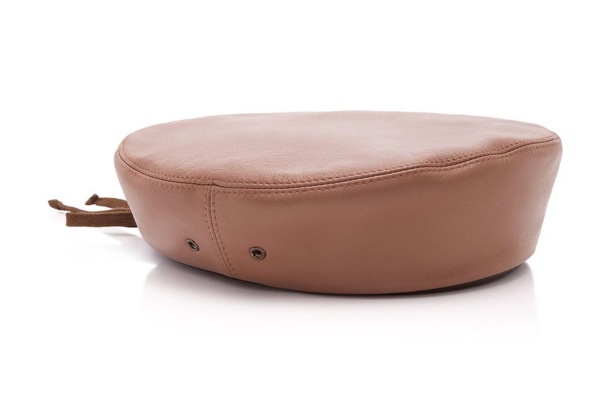 eric javits leather beret