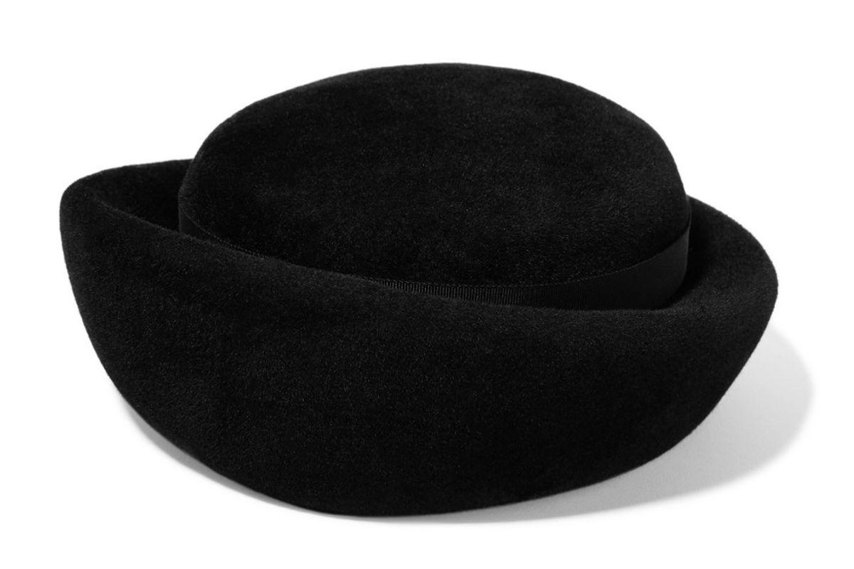 gigi burris laura grosgrain trimmed rabbit felt hat