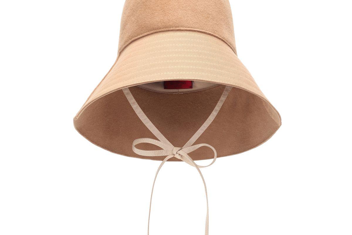 valentino garavani felt bucket hat