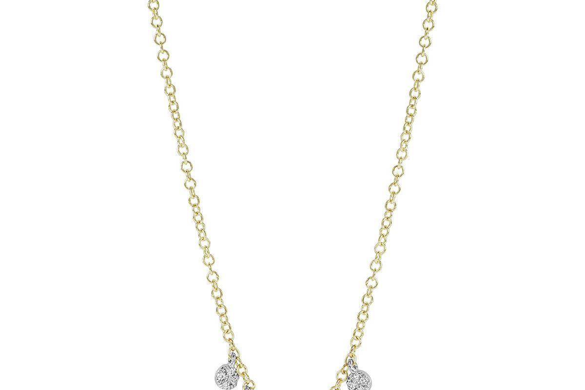 Circle Diamond Dangle Necklace