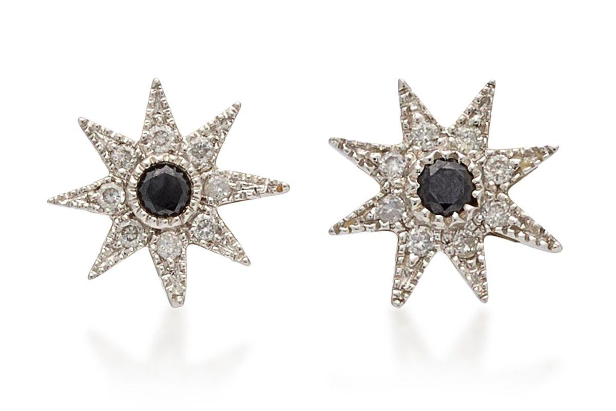 Glow Star 18K White Gold Stud Earrings