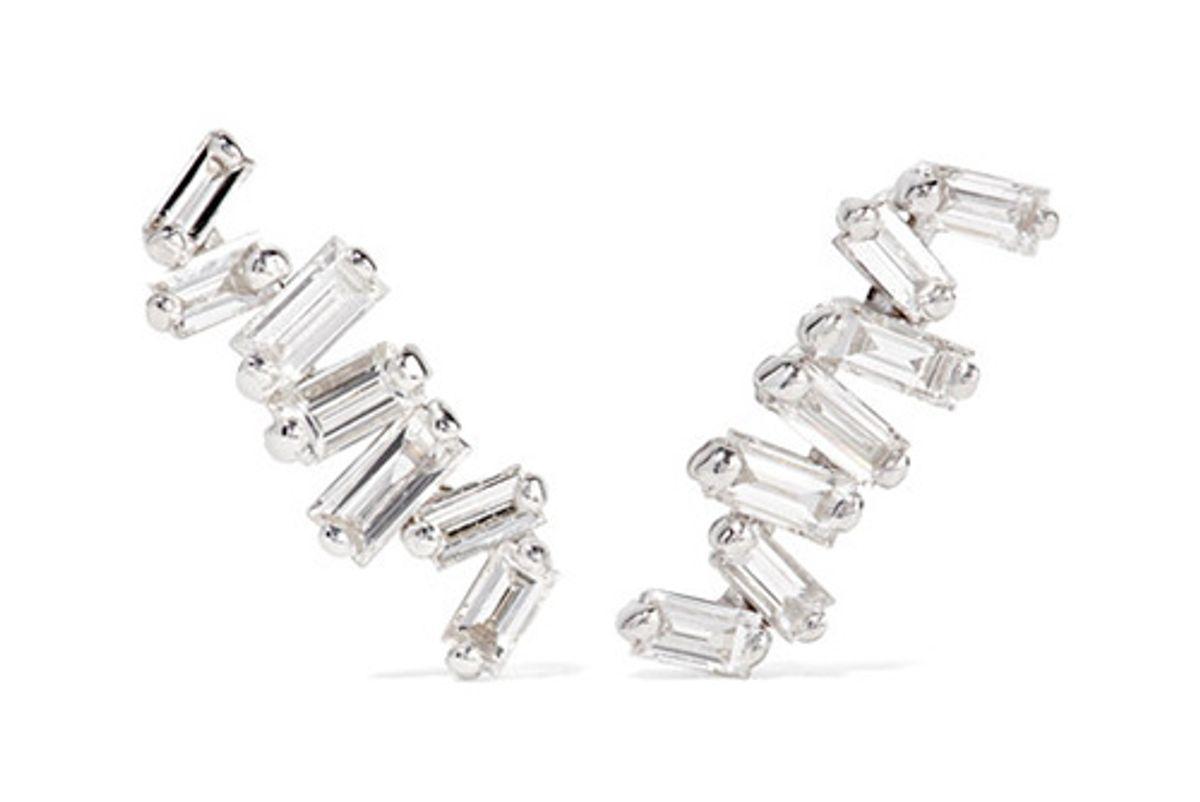 18-karat white gold diamond earrings