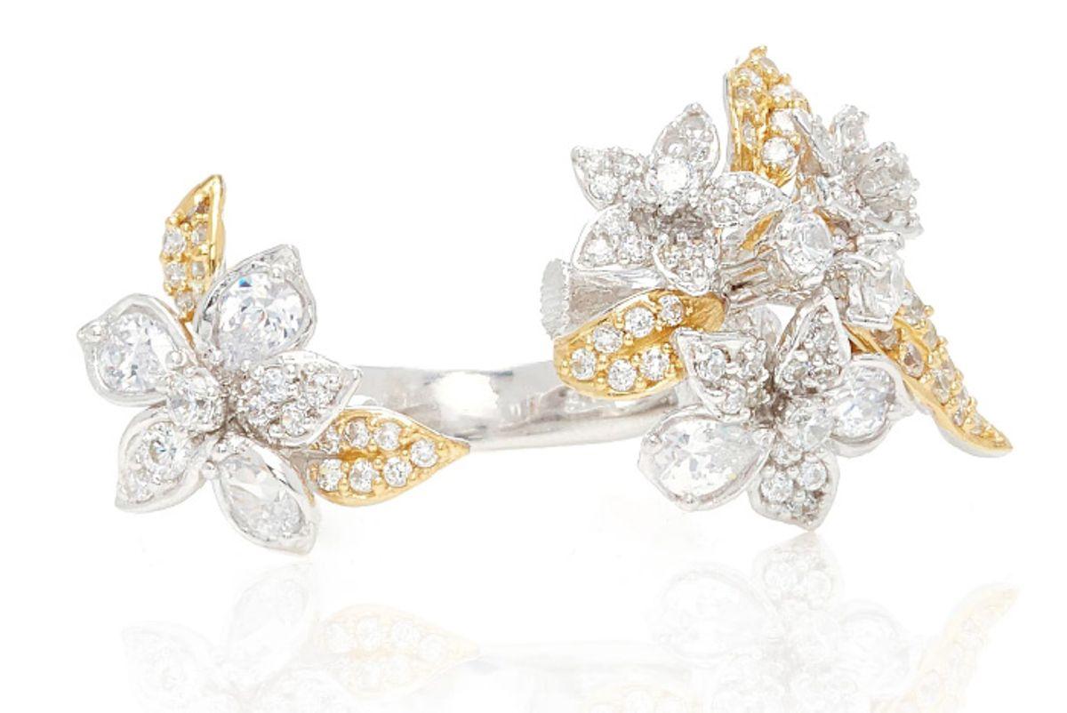 Bellflower 18K Gold And Rhodium Diamond Ring
