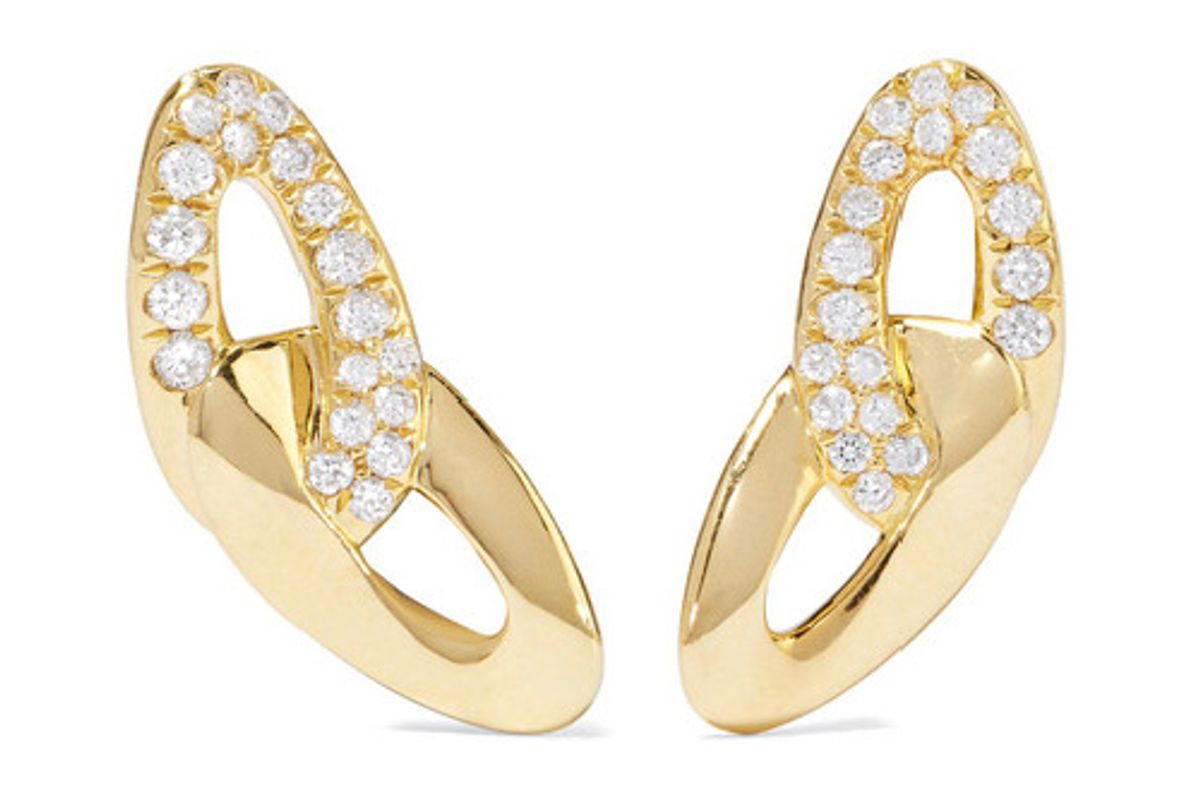 Cherish Bond 18-karat gold diamond earrings