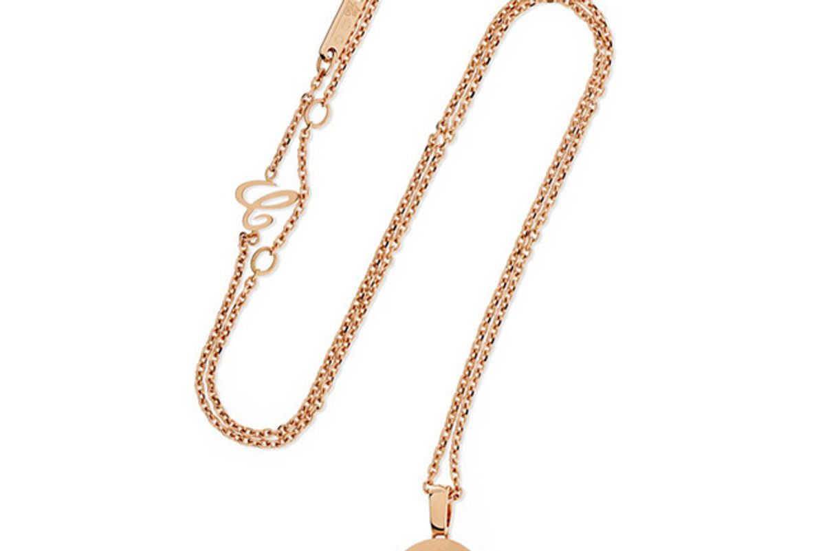 Happy Diamonds 18-karat rose gold diamond necklace