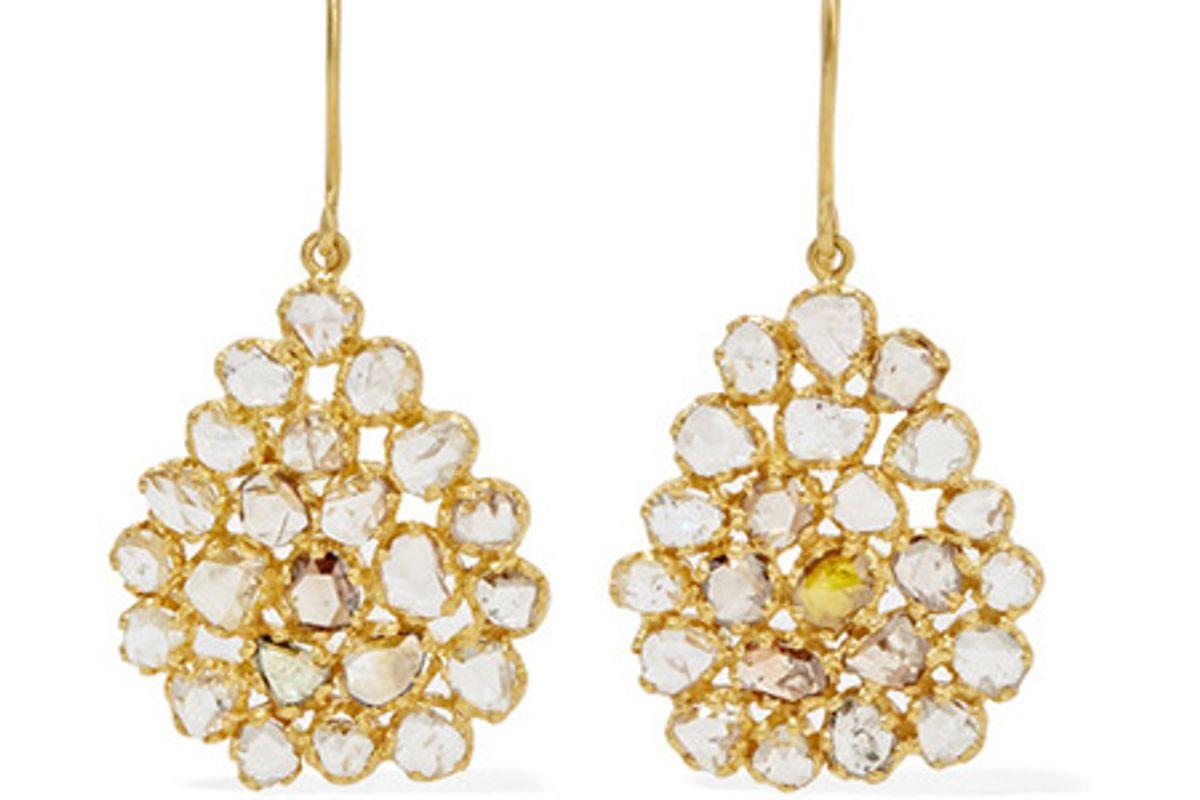 18-karat gold diamond earrings