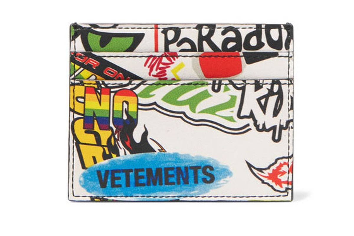 vetements printed leather cardholder