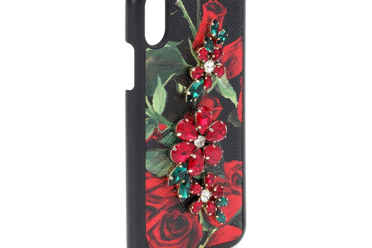 dolce and gabbana printed leather iphone x case
