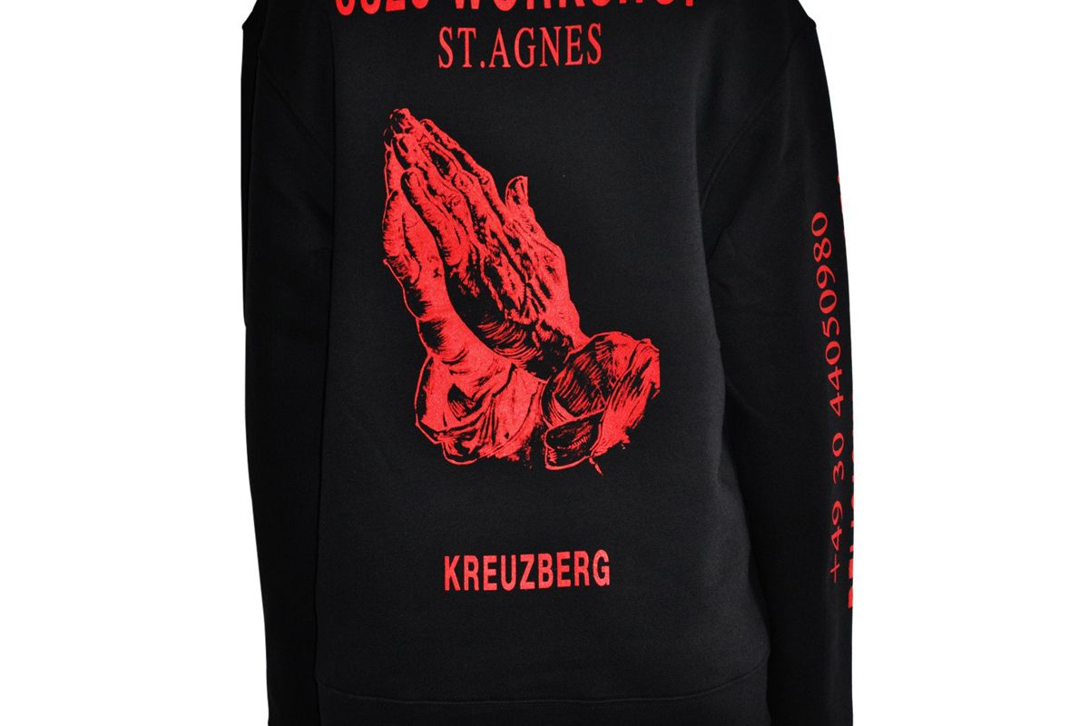 """Religious Services"" Sweatshirt in Black"
