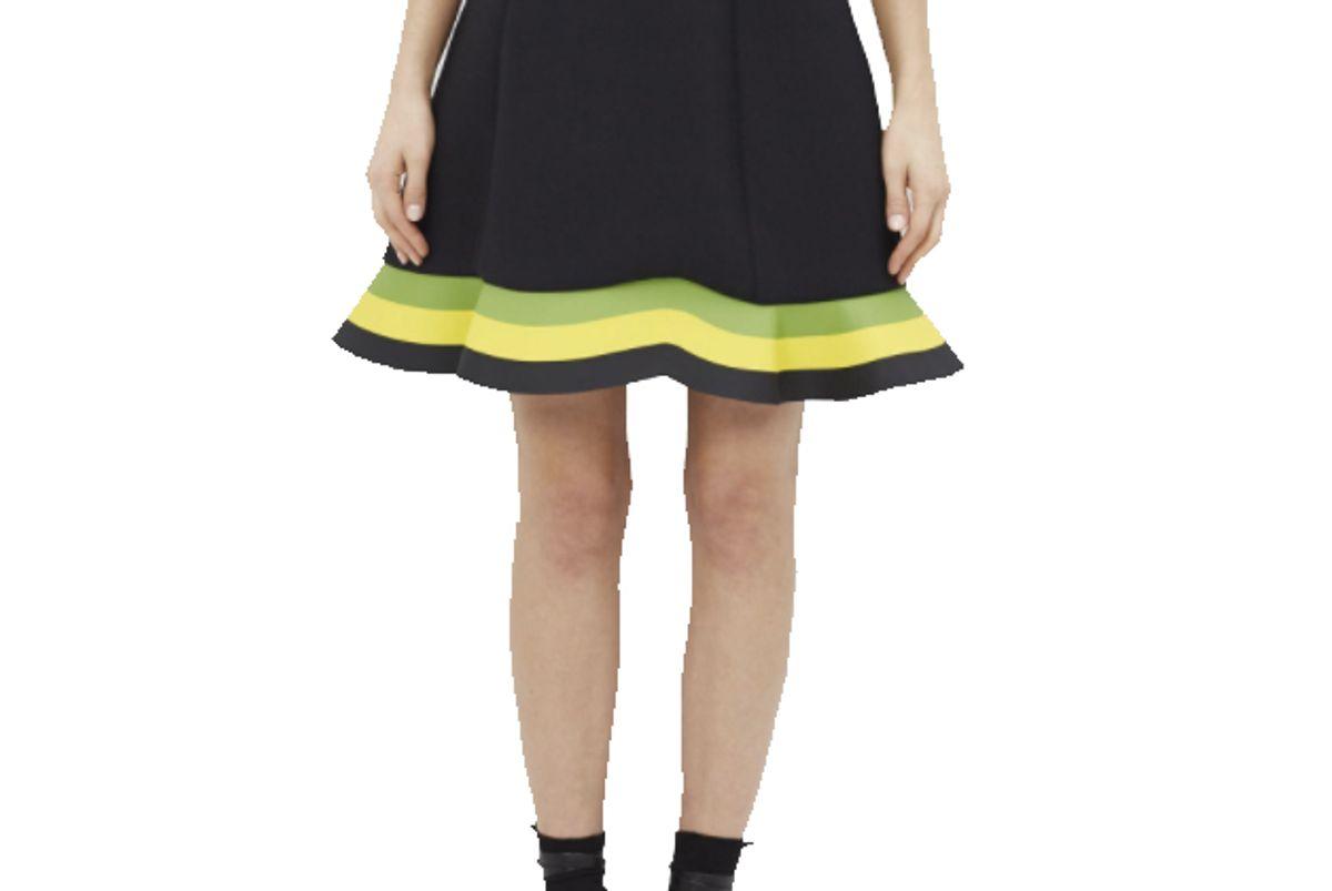 Women's Green / Yellow Orbit Hem Skirt