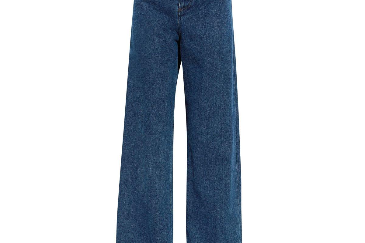 Cutout High-Rise Wide-Leg Jeans