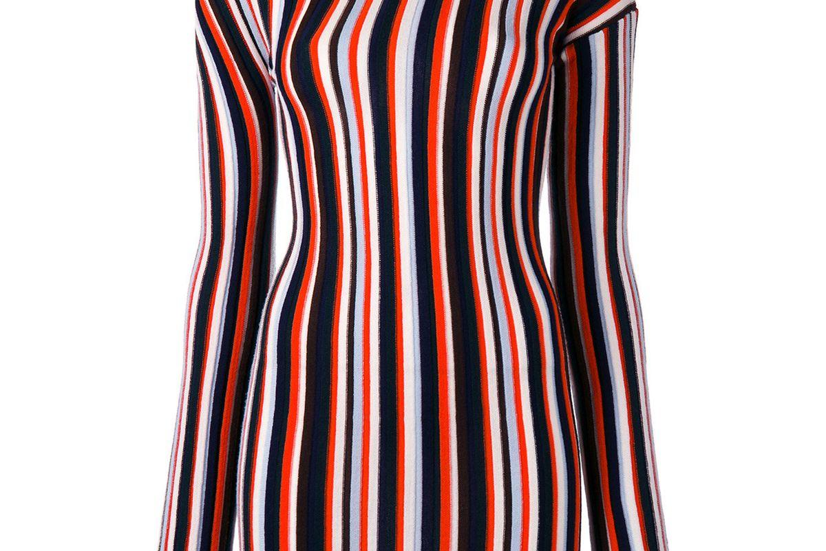 Striped Knitted Mini Dress