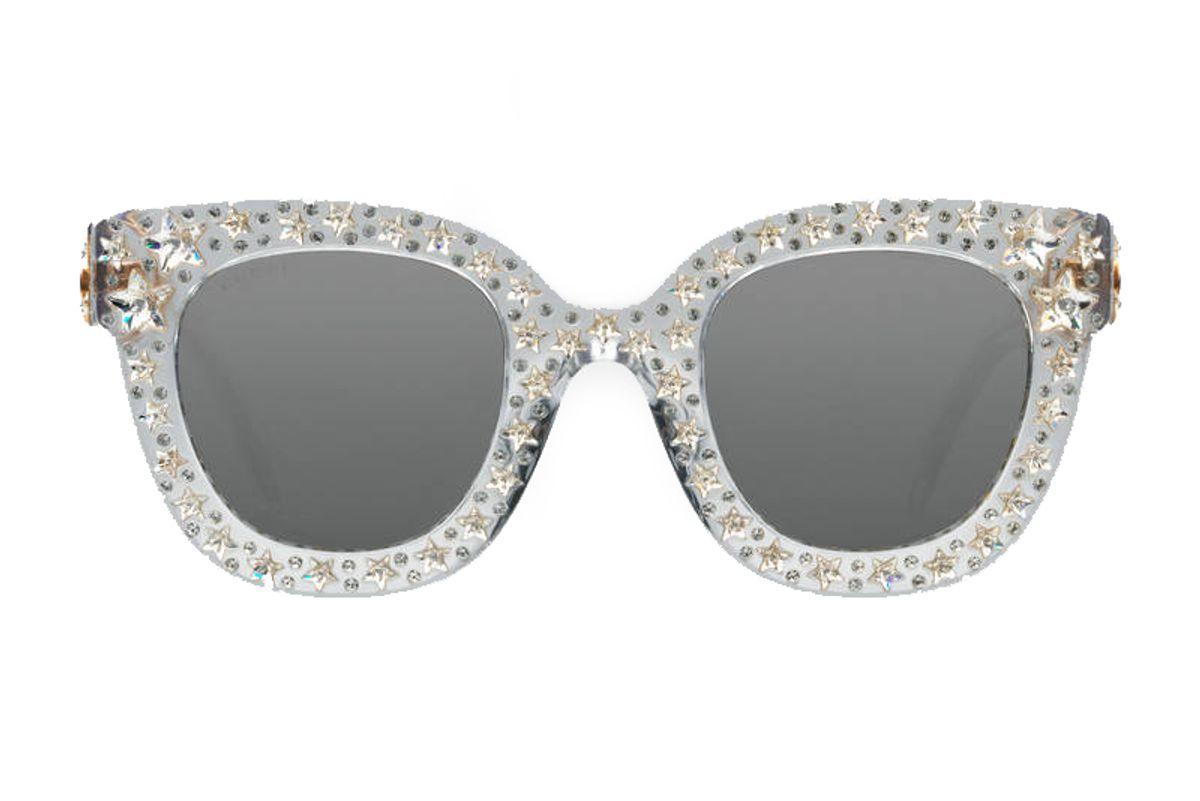 Cat Eye Acetate Sunglasses with Stars