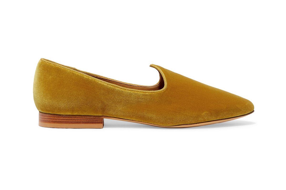 le monde beryl venetian velvet loafers