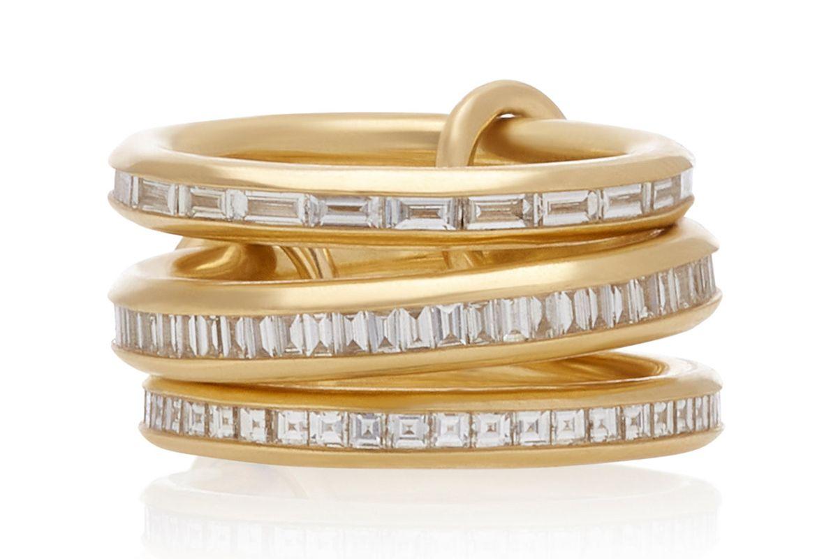spinelli kilcollin manava set of three 18k gold diamond rings
