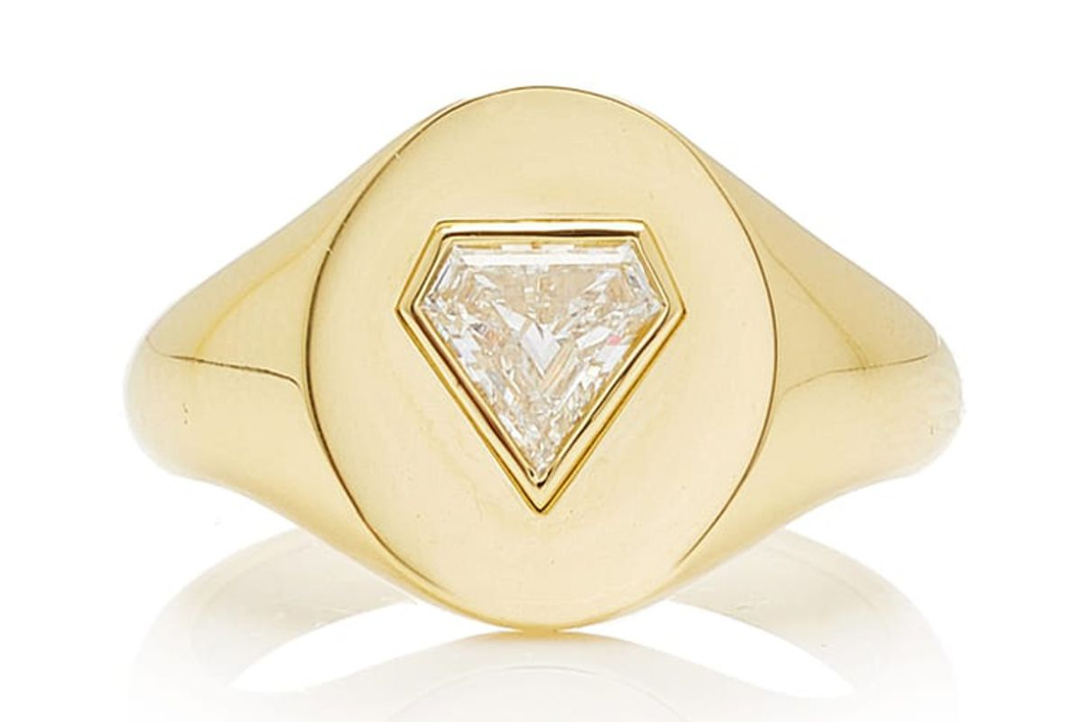 jemma wynne prive diamond shield signet ring