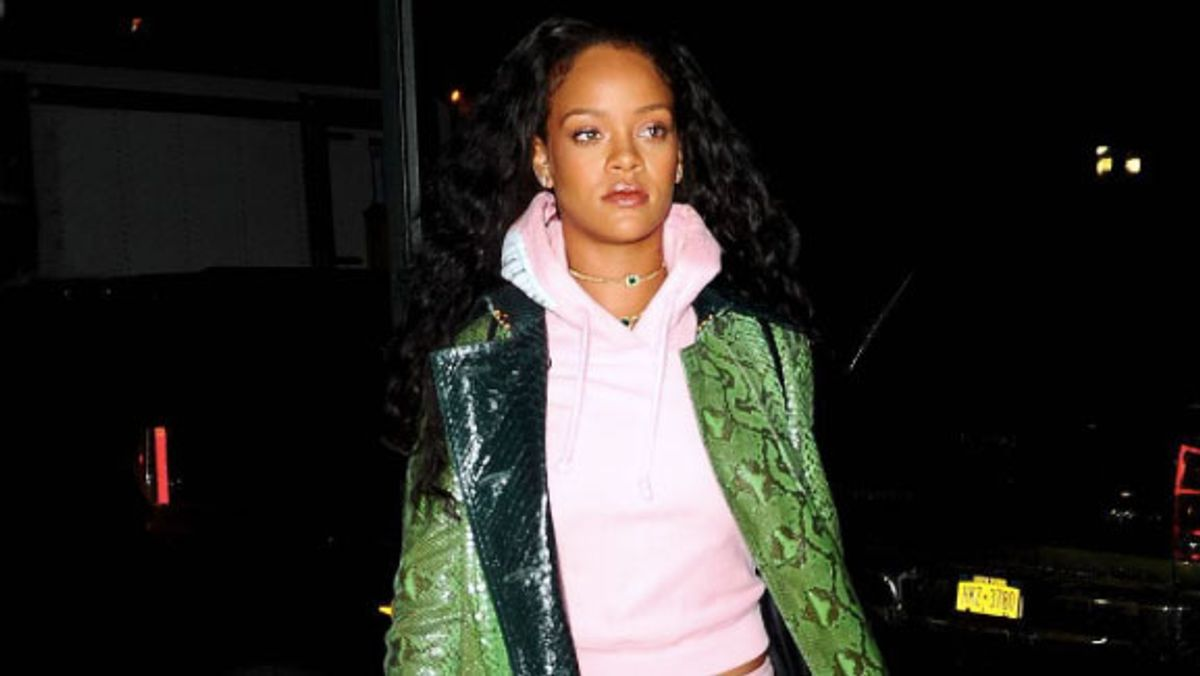 How to Wear a Sweatsuit to the Club, as Illustrated by Rihanna