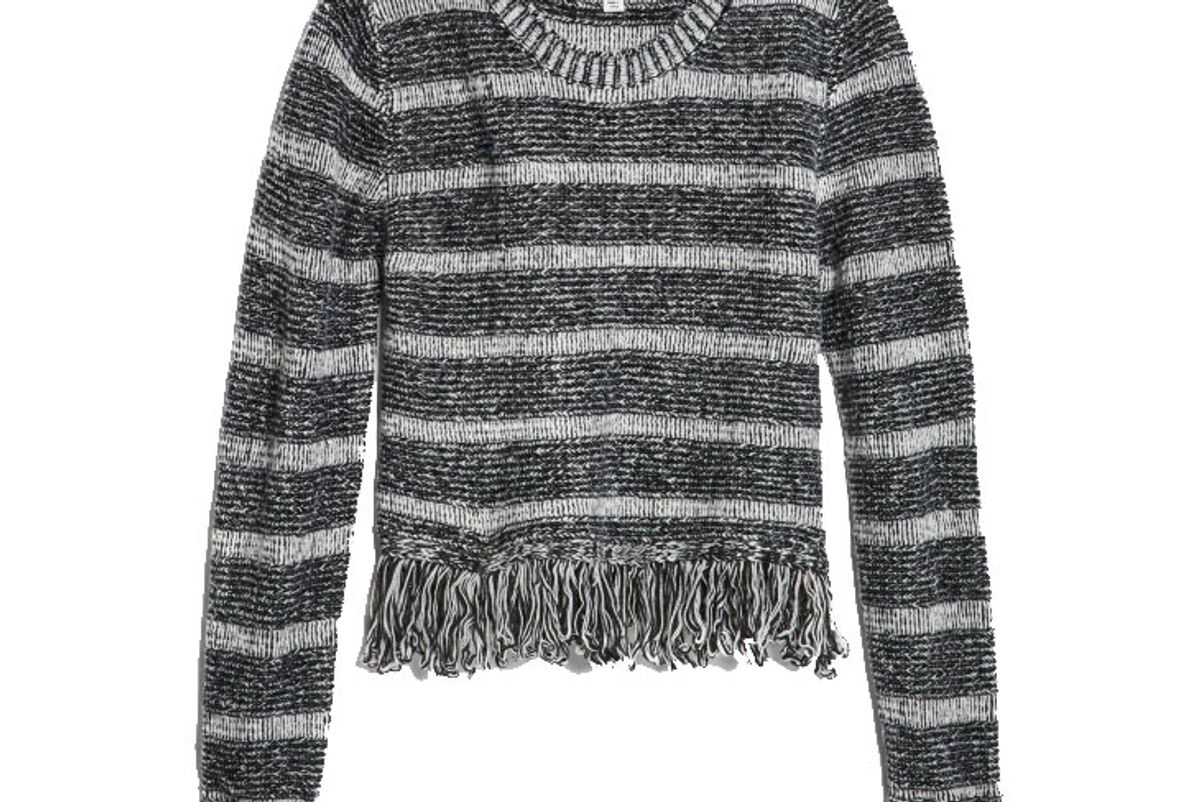 Crop Fringe Sweater