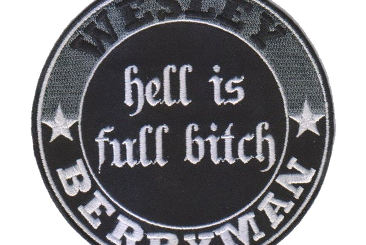 """Unisex Embroidered """"Hell Is Full Bitch"""" Sew-On Patch"""