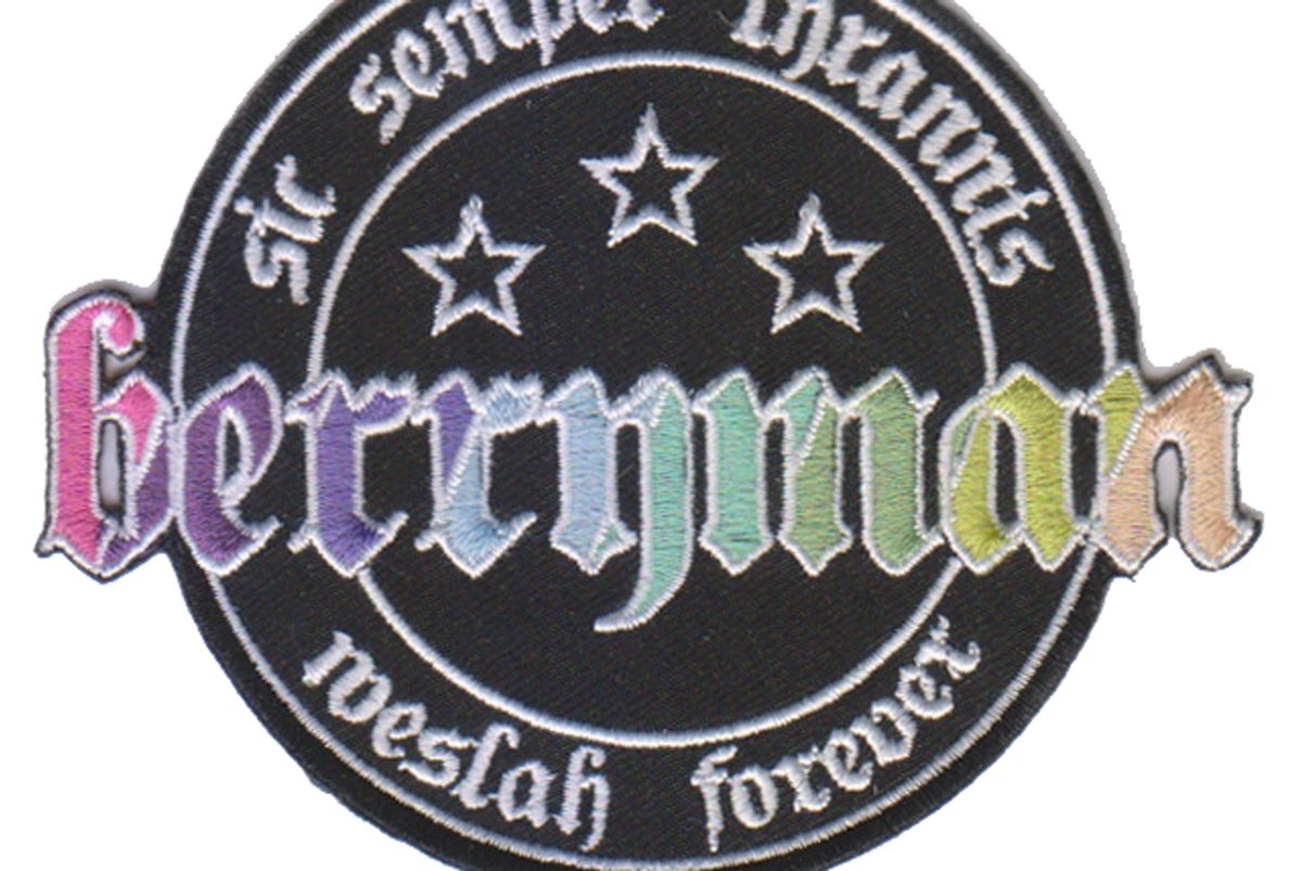 """Unisex Embroidered """"Berryman"""" Sew-On Patch"""