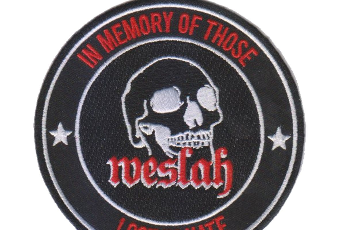 """Unisex Embroidered """"Weslah"""" Sew-On Patch"""