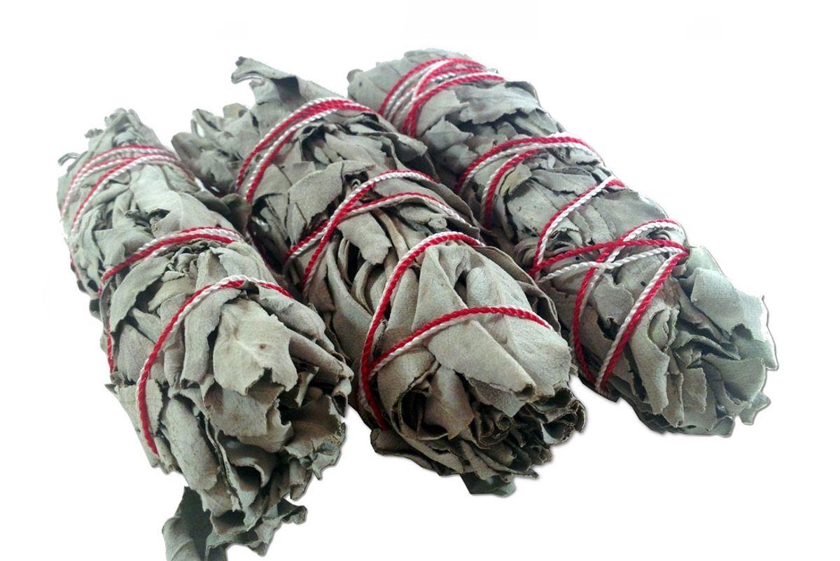 "White Sage Smudge 4"" Sticks (pack of 3"