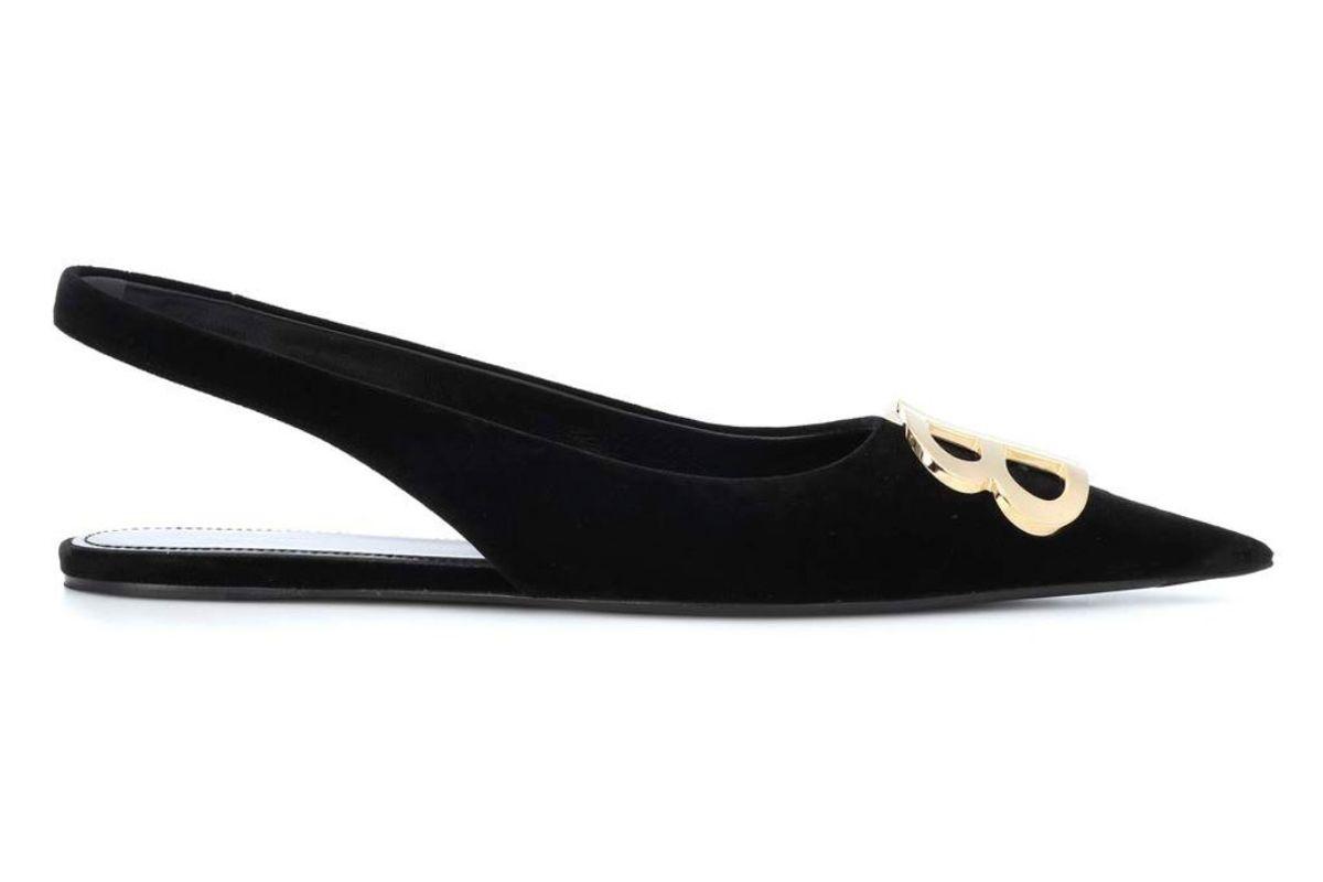 balenciaga bb velvet slingback slippers