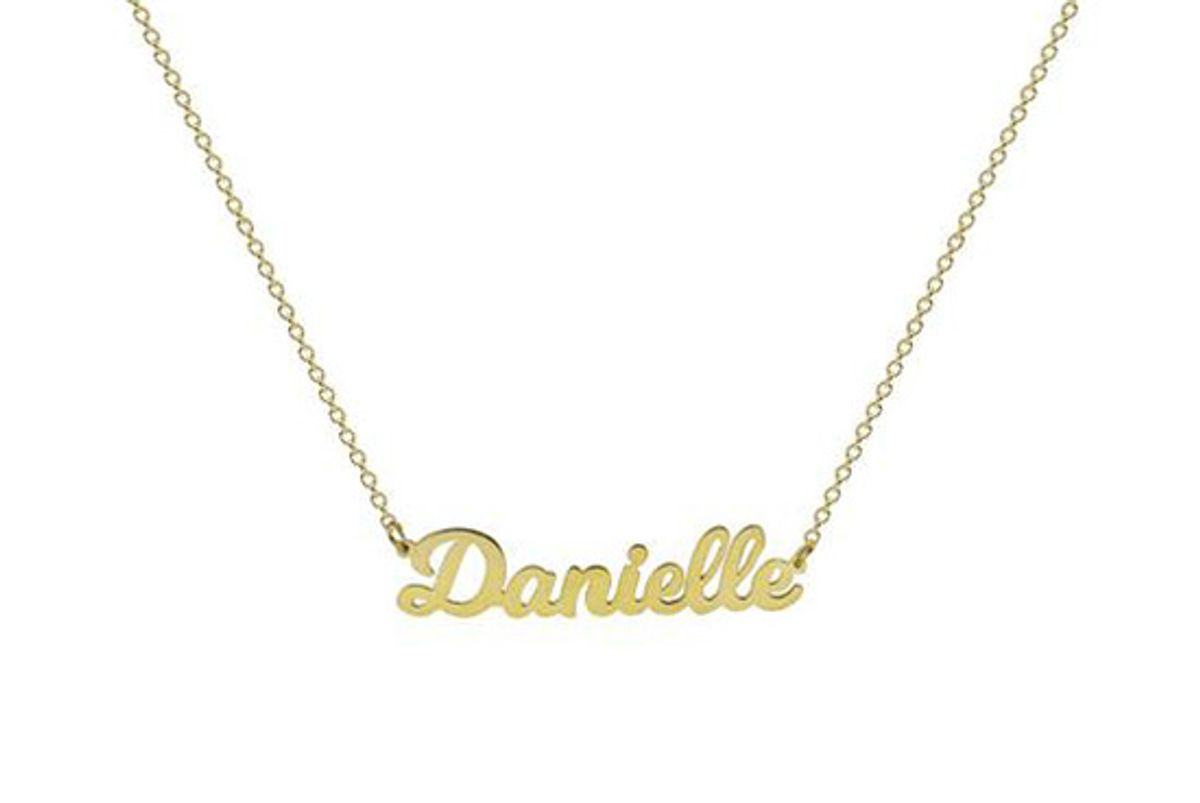 the m jewelers the nameplate necklace