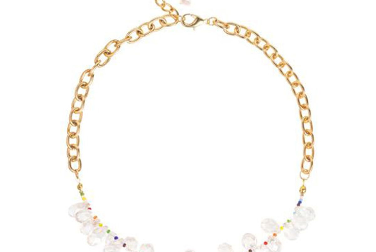 immany over the rainbow iridescent crystal necklace