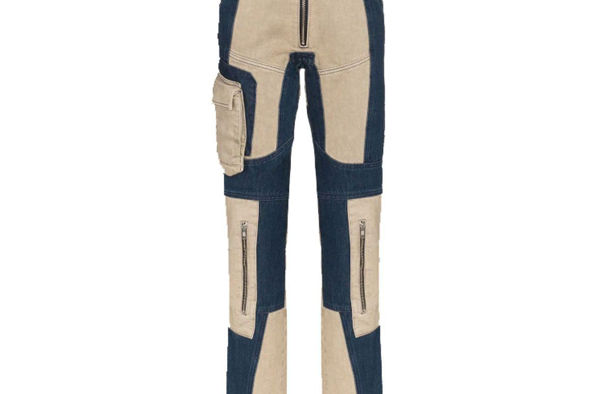 gmbh patchwork skinny jeans