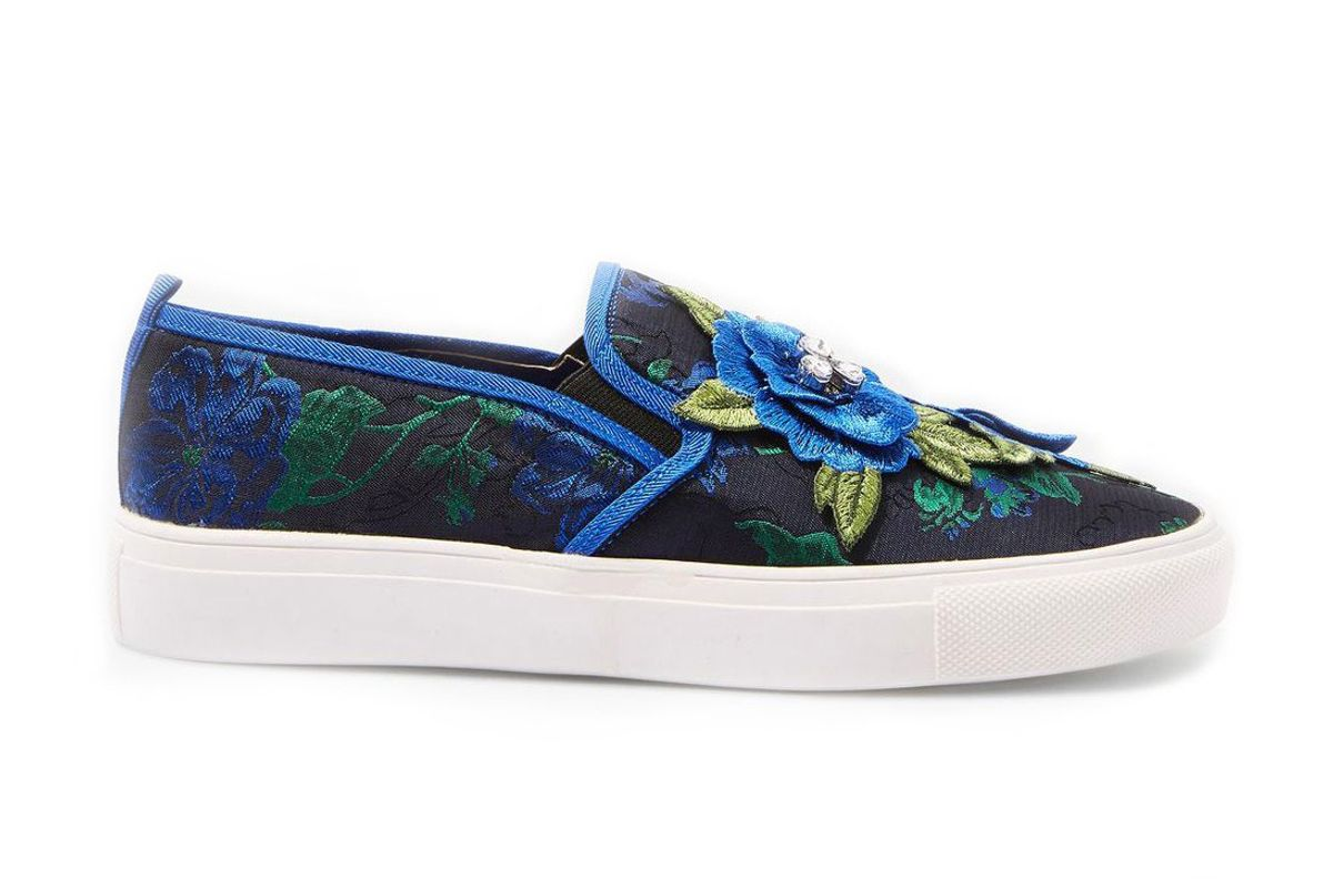 Tessa Embroidered Slip On Shoes