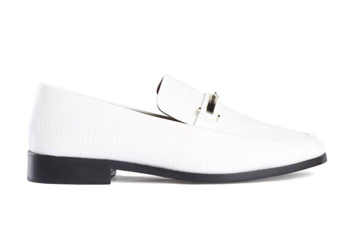 newbark melanie white loafer