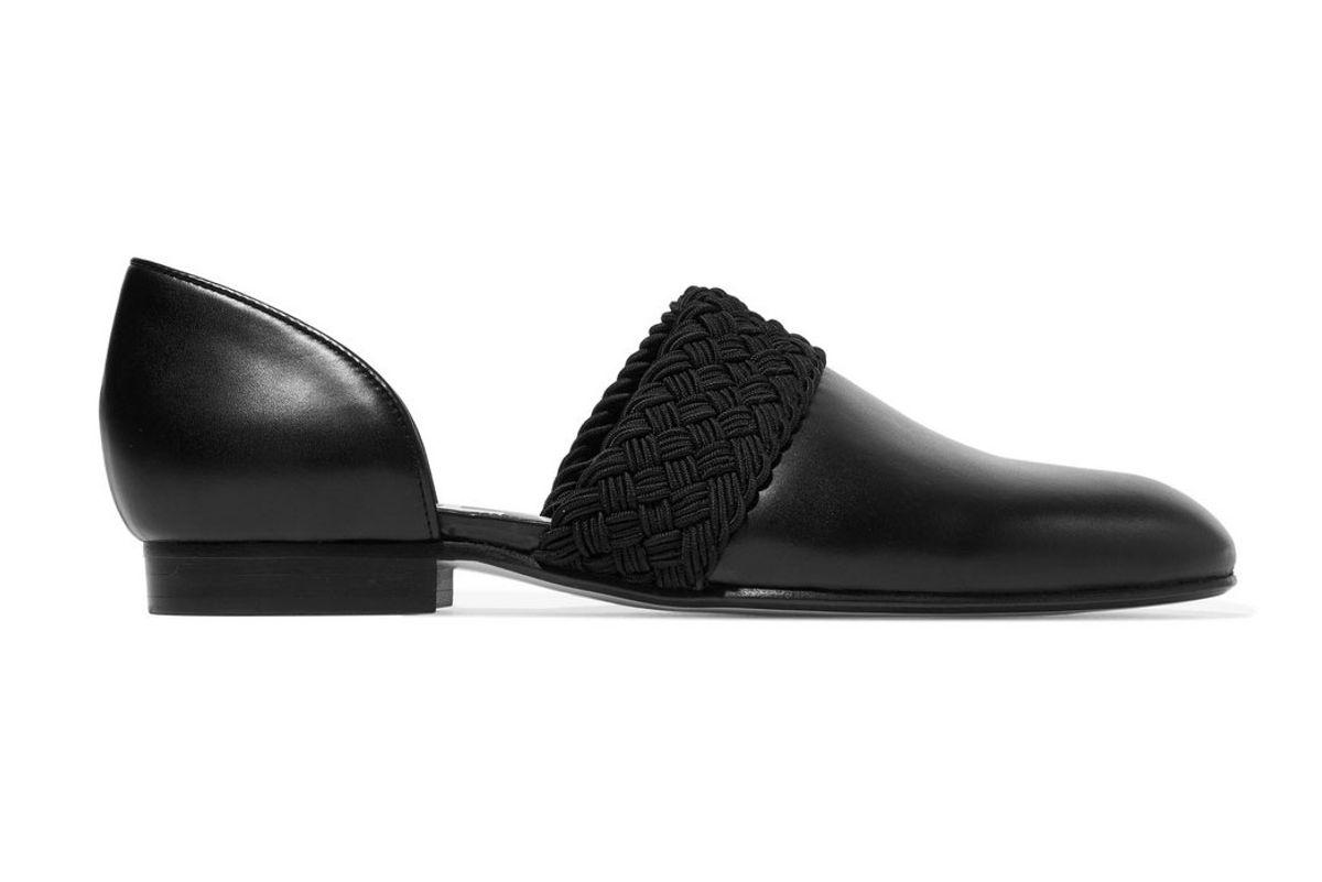loewe flex d'orsay leather loafers